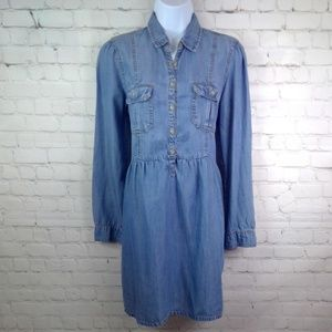 American Eagle Outfitters Denim Long Sleeve Dress